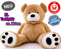 Riesen Plüsch Teddybär Ted Teddybären Geschenk Hit Gigant 160cm XL Neu