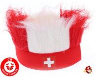 Hopp Schwiiz Schweiz Nati Fanartikel Stirnband Strubbelhaar Fussball Hockey Tennis Schweizer Fan / Neu