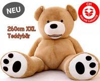XXL Plüsch Teddybär Teddy Kuscheltier Riesenplüsch Riesenteddy Teddybär Plüsch Tedi Bär 260cm